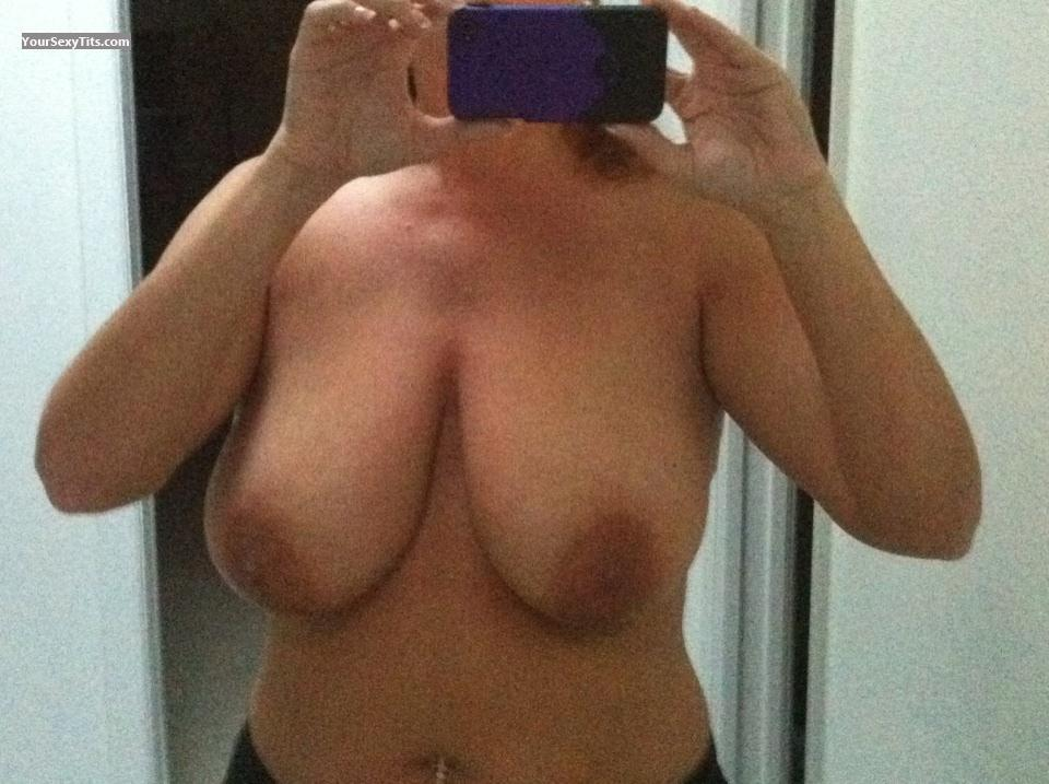 Tit Flash: My Very Big Tits By IPhone (Selfie) - LGWBT from United States